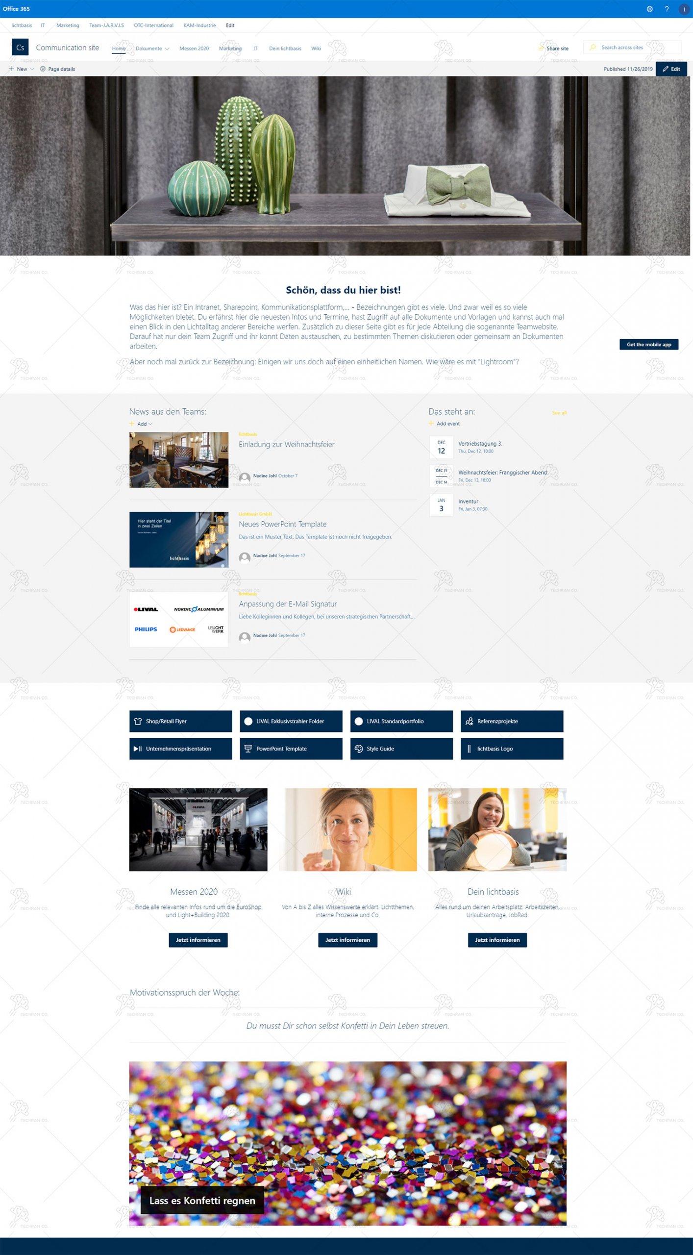 پروژه Sharepoint Online